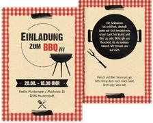 Sommerfest Einladung BBQ - Orange (K31)