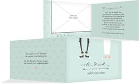 Danksagungskarte zur Hochzeit Pärchen - Grün (K19)
