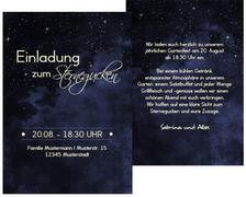 Sommerfest Einladung Sternennacht - Dunkelblau (K31)