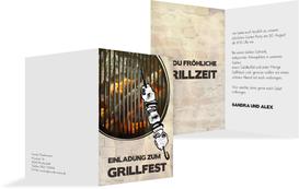 Einladung zum Sommerfest Grillfest - Champagne (K20)