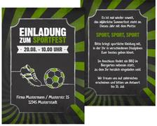 Einladung Sommerfest Retro Sport - Grün (K31)