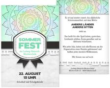 Sommerfest Einladung Psychedelic - Türkis (K31)