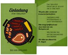 Einladung zum Sommerfest Grillsaison - Grün (K31)