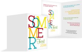 Sommerfest Einladung Sommer - Rot (K20)