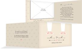 Danksagungskarte zur Hochzeit Pärchen - Frauen - Braun (K19)