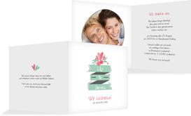 Hochzeit Einladung Du & Ich - Weiß (K24)