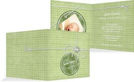 Baby Dankeskarte Faden - Grün (K24)