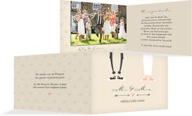 Danksagungskarte zur Hochzeit Pärchen - Braun (K19)