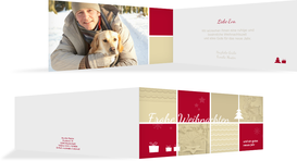 Foto Weihnachtsgrußkarte Frohes Fest - Rot (K33)