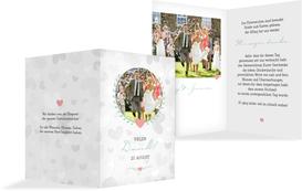 Hochzeit Dankeskarte Zarte Ranke - Türkis (K20)