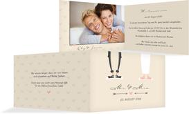 Einladungskarte zur Hochzeit Pärchen - Braun (K19)