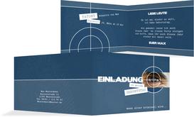 Einladungskarte zum Geburtstag Krimi - Dunkelblau (K19)