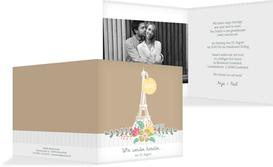 Einladung zur Hochzeit Paris - Braun (K24)