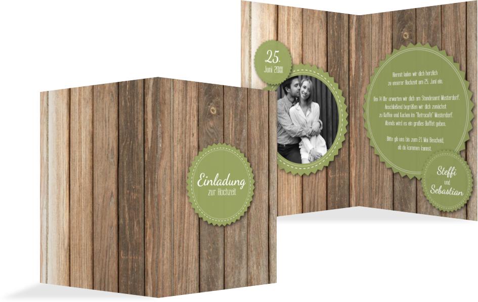 Hochzeitseinladung vintage holz kartenmanufaktur for Hochzeitseinladung holz