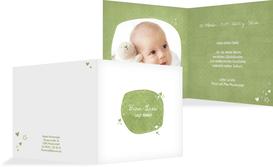 Baby Dankeskarte herzliche Sternchen - Grün (K24)