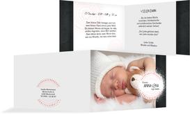 Geburt Dankeskarte Mandala - Rosa (K19)