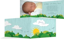 Geburtskarte Sommerlandschaft - Türkis (K19)