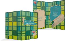 Karte zum Muttertag Geschenkpapier - Türkis (K20)