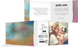 Grußkarte zum Muttertag Farbenfroh - Pink (K19)