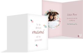 Muttertagskarte Blumenkreis - Rosa (K20)