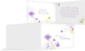 Grußkarte zum Muttertag Blumentraum - Lila (K19)