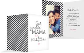 Muttertagskarte Gut gemacht - Pink (K20)