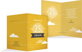 Jubiläumskarte Wolken - Gelb (K20)