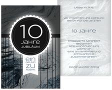 Glückwunschkarte Jubiläum Marmor - Dunkelblau (K31)