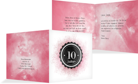 Glückwunschkarte Jubiläum Galaxie - Pink (K24)