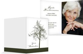 Sterbebildkarte Tree - Grün (K29)