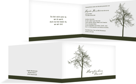Dankeskarte Tree quer - Grün (K27)
