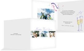 Neujahrskarte Fotostrecke - Weiß (K24)