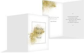 Neujahrskarte Glitter - Gelb (K20)
