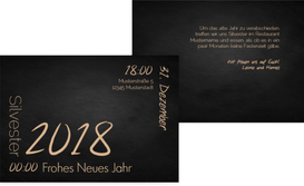Neujahrskarte Wortkarussell - Champagne (K25)