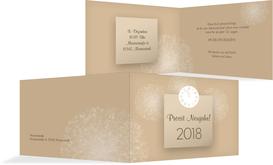 Neujahrskarte Cream - Braun (K19)