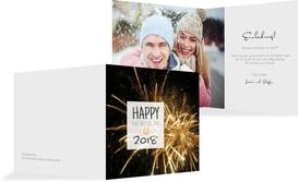 Neujahrskarte Silvesterparty - Champagne (K24)