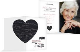 Sterbebildkarte Herz - Rot (K29)
