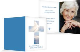 Sterbebildkarte Himmelskreuz - Blau (K29)
