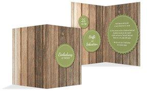 Hochzeitseinladung Vintage Holz 2