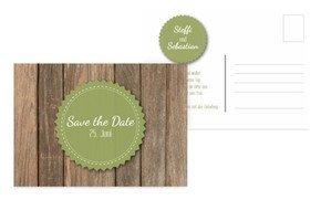 Save the Date Karte Vintage Holz