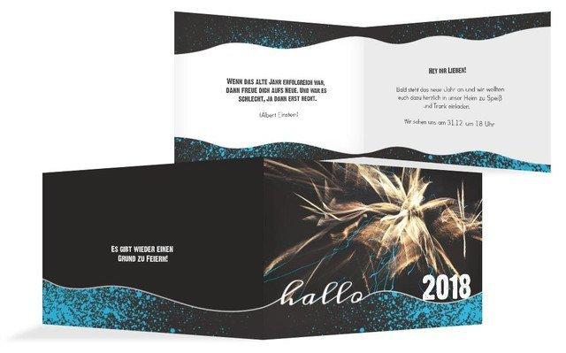Neujahrskarte Feuerwerk | Kartenmanufaktur