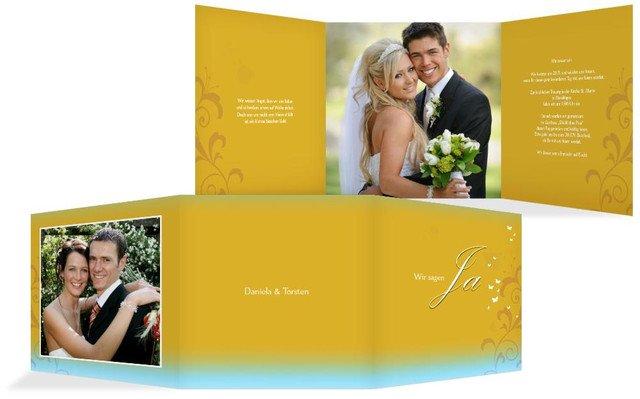 Hochzeitseinladungskarte 3 Glücksgriff
