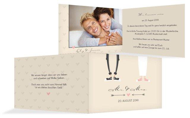 Einladungskarte zur Hochzeit Pärchen