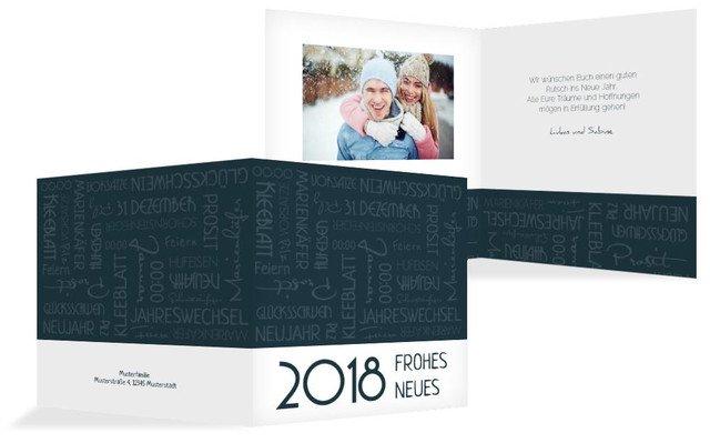 Neujahrskarte Schlagworte