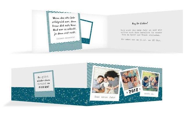 Neujahrskarten 🎊 Einladungen jetzt für 2018/2019 selbst gestalten