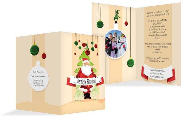 Foto Weihnachtseinladung Wichtel