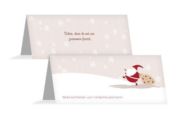 Weihnachtstischkarte Weihnachtsmann