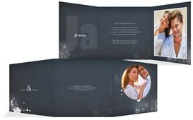 Einladung zur Hochzeit 3 Liebeserfüllung - Dunkelblau (K23)