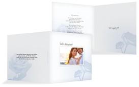 Einladung zur Hochzeit Rose - Hellblau (K24)