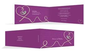 Karte zur Hochzeit erfüllte Liebe - Pink (K33)